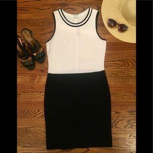 St John Black & White Knit Dress Sz. 6